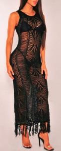 Откровенное платье в пол без рукавов цвет: ЧЕРНЫЙ
