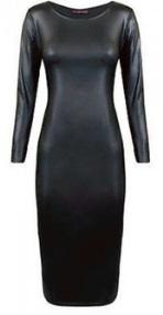 Облегающее платье-миди с длинным рукавом цвет: ЧЕРНЫЙ