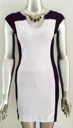 Облегающее платье-миди без рукавов цвет: ЧЕРНО-БЕЛЫЙ