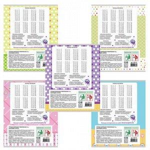 Тетрадь 12 листов, клетка, обложка мел. картон, блок офсет б