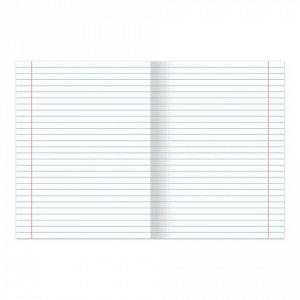Тетрадь 12 листов, линия, обложка мел. картон, блок офсет бе
