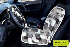 Накидка на сиденье автомобиля из шерсти