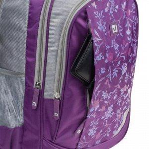 Рюкзак BRAUBERG для ст.классов/студентов/молодежи, Цветочный