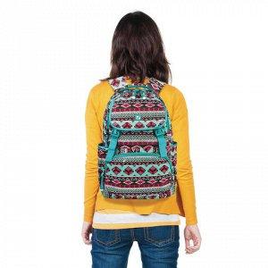 Рюкзак BRAUBERG молодежный, Орнамент, канвас, 47х32х14 см, 2