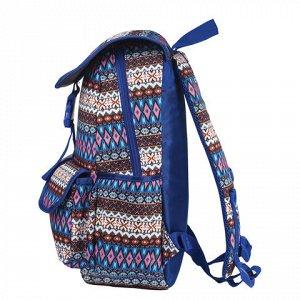 Рюкзак BRAUBERG молодежный, узоры, Этник, на застежке, 34х25