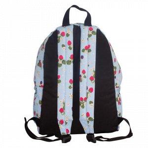 Рюкзак BRAUBERG универсальный, сити-формат, бежевый, Ягоды,