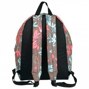 Рюкзак BRAUBERG универсальный, сити-формат, коричневый, Мята