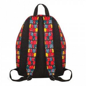 Рюкзак BRAUBERG универсальный, сити-формат, красный, Совята,