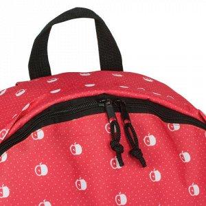 Рюкзак BRAUBERG универсальный, сити-формат, красный, Яблоки,