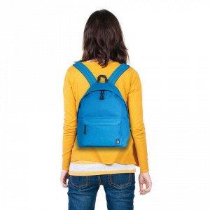 Рюкзак BRAUBERG универсальный, сити-формат, один тон, голубо