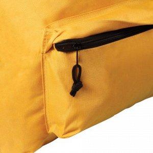Рюкзак BRAUBERG универсальный, сити-формат, один тон, желтый