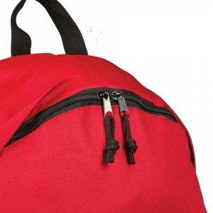 Рюкзак BRAUBERG универсальный, сити-формат, один тон, красны