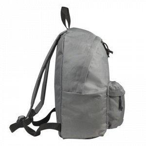 Рюкзак BRAUBERG универсальный, сити-формат, один тон, серый,