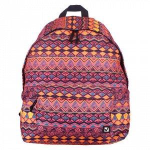 Рюкзак BRAUBERG универсальный, сити-формат, оранжевый, Сафар