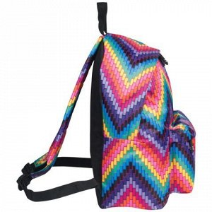 Рюкзак BRAUBERG универсальный, сити-формат, разноцветный, Ре