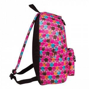 Рюкзак BRAUBERG универсальный, сити-формат, розовый, Совята,