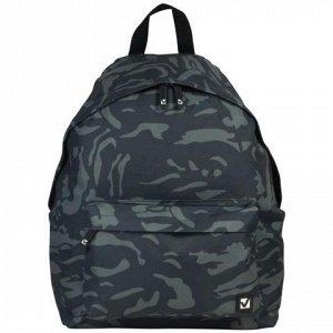 Рюкзак BRAUBERG универсальный, сити-формат, серый, Камуфляж,