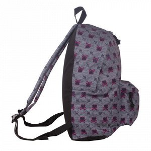 Рюкзак BRAUBERG универсальный, сити-формат, серый, Хартз, 23