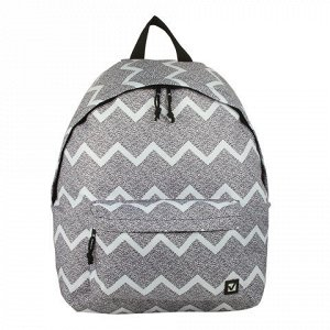 Рюкзак BRAUBERG универсальный, сити-формат, серый, Шум, 23 л