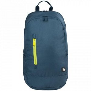 Рюкзак BRAUBERG универсальный, сити-формат, синий, с желтой