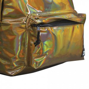 Рюкзак BRAUBERG универсальный, сити-формат, темно-золотой, В