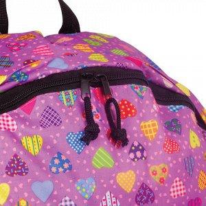 Рюкзак BRAUBERG универсальный, сити-формат, фиолетовый, Серд