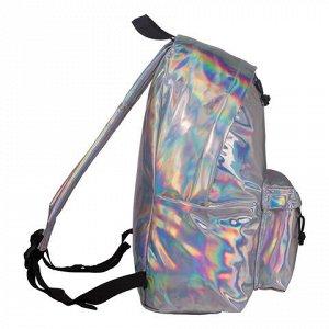 Рюкзак BRAUBERG универсальный, сити-формат, цвет серебро, Ви