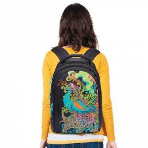 Рюкзак GRIZZLY для средних/старших классов, девочка, Павлин,