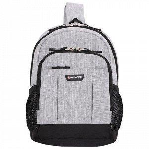 Рюкзак WENGER с одним плечевым ремнем универсальный, серо-че