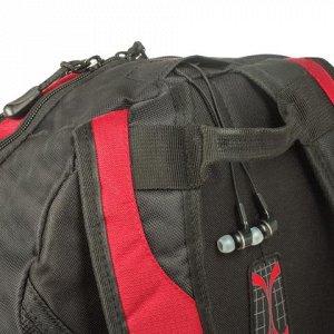 Рюкзак WENGER универсальный, красно-черный, серые вставки, 2
