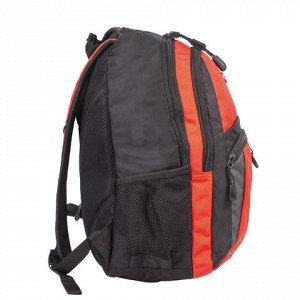 Рюкзак WENGER универсальный, оранжево-черный, сер.вставки, 2