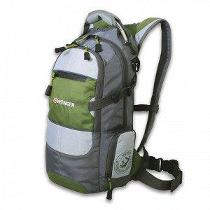 """Рюкзак WENGER универсальный, серо-зеленый, """"Narrow Hiking Pa"""