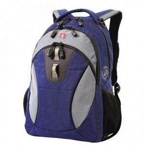 Рюкзак WENGER универсальный, сине-серый, 22 л, 32*15*46 см,