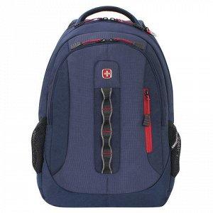 Рюкзак WENGER универсальный, темно-синий, 28 л, 44*35*18 см,