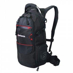 """Рюкзак WENGER универсальный, черный, """"Narrow Hiking Pack"""", т"""