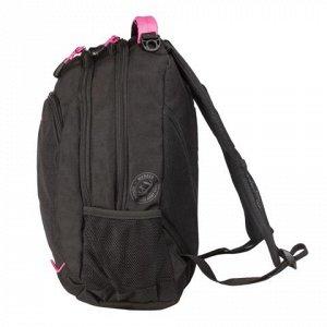 Рюкзак WENGER универсальный, черный, розовые вставки, 22 л,