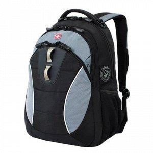 Рюкзак WENGER универсальный, черный, серые вставки, 22 л, 32