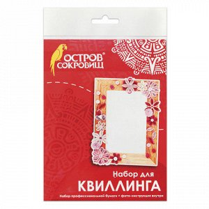 "Набор для квиллинга УКРАСЬ ФОТОРАМКУ, 5 цв, 95 полос, ""Розов"