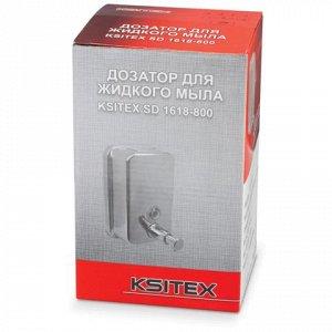 Диспенсер для жидкого мыла KSITEX, НАЛИВНОЙ, нерж.сталь, зер