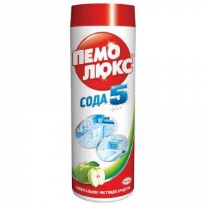 """Чистящее средство 480г ПЕМОЛЮКС Сода-5, """"Яблоко"""", порошок, ш"""