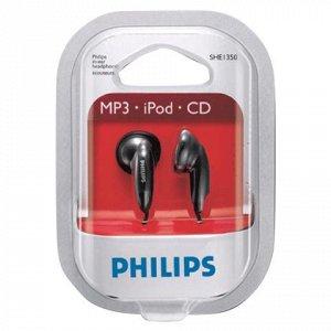 Наушники PHILIPS SHE 1350, проводные, 1м, стерео, вкладыши