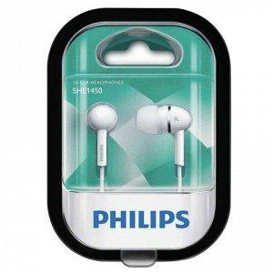 Наушники PHILIPS SHE1450WT/51, проводные, 1,2м, стерео, вкла