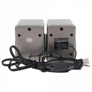 Колонки компьютерные GEMBIRD SPK-400, 2.0, 2x3 Вт, USB, регу