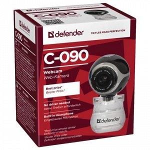 Веб-камера DEFENDER C-090, 0.3Мп, микрофон, USB 2.0, рег.кре