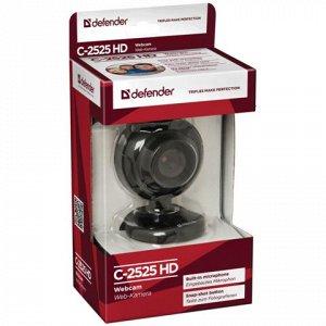 Веб-камера DEFENDER C-2525HD, 2Мп, микрофон, USB 2.0, рег.кр
