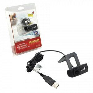 Веб-камера GENIUS Facecam 1000X V2, 1Мп., микрофон, USB 2.0,