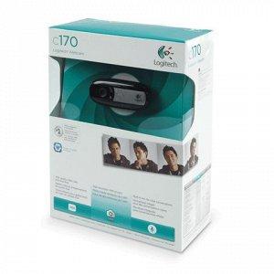 Веб-камера LOGITECH C170, 0,3Мпикс,микрофон,USB 2.0,регулиру