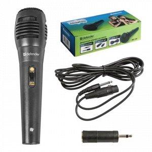 Микрофон DEFENDER MIC-129, проводной, кабель 5м, черный, 641