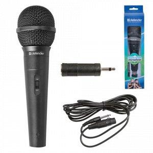 Микрофон DEFENDER MIC-130, проводной, кабель 5 м, черный, 64