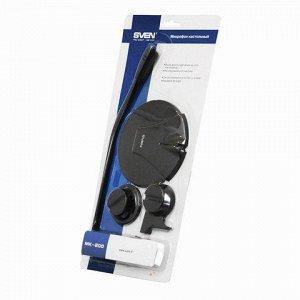 Микрофон настольный SVEN MK-200, кабель 1,8 м., 60 дБ, черны